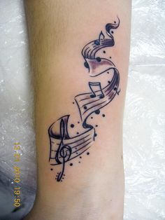 music tattoo i want this done with a song lyric i <3