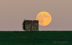 """Astrophotographer Chris Pruzenski sent in a photo of the Harvest Moon, taken in western New York on Sept. 8, 2014. He writes in an email message to Space.com: """"I finally snapped a good full moon photo, and I'm pleased that it happens to be a Harvest Moon and Super Moon all in one package--two birds; one huge celestial stone! It was quite the chase finding this moonrise viewing location with the harvest-themed foreground. I racked up about 80 odometer miles before finding this old silo in ..."""