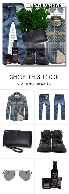 """""""NewChic !"""" by dianagrigoryan ❤ liked on Polyvore featuring Jimmy Choo, Ray-Ban, Kiehl's, men's fashion and menswear"""