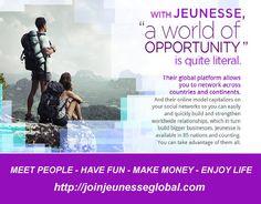 Talk to people - Have fun - Make Money - Enjoy life....with Jeunesse Global http://joinjeunesseglobal.com