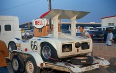 1966 Chaparral 2G on trailer in pits at Riverside International Raceway.jpg 800×510 pixels
