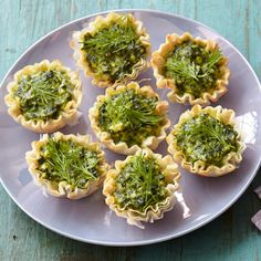 These savory tartlets are inspired by flavors of the Mediterranean. #myplate #vegetables #dairy