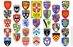The Crests of the Cambridge University Colleges Cambridge University Colleges, Cambridge College, University In England, University Logo, British College, Legal Size Paper, Education Logo, Crests, Private School