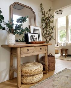 Cheap Home Decor .Cheap Home Decor Butcher Table, Entryway Decor, Wall Decor, Rustic Entryway, Rustic Mirrors, Decoration Inspiration, Decor Ideas, Home Decor Furniture, Home Decor Accessories