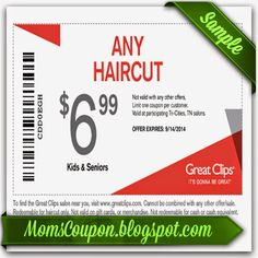 UseFree Printable Great Clips Coupons for big discounts Great Clips is one of the largest hair salon franchises in the entire Un. Printable Vouchers, Free Printable Coupons, Free Coupons, Free Printables, Local Coupons, Grocery Coupons, Online Coupons, Discount Coupons, Great Clips Haircut