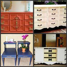 Portfolio of our Furniture Designs  {dresser, white dresser, tangerine tango, vintage furniture, modern, chic}