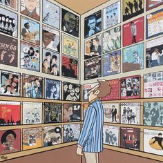 Artist Pete McKee tours the UK with pop-up galleries and reveals his new book, 'Council Skies' Window Display Retail, Retail Displays, Shop Displays, Merchandising Displays, Window Displays, Pete Mckee, Music Illustration, Vinyl Junkies, Music Images