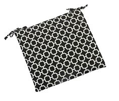 Indoor / Outdoor Black and White Geometric Hockley Universal Thick Foam Seat Cushion with Ties for Dining Patio Chair Choose Size 16 x 16 *** Visit the image link more details. (This is an affiliate link) 0 Wall Seating, Patio Seating, Patio Chairs, Outdoor Cushions, Seat Cushions, Balcony, Indoor Outdoor, Size 16, Ties