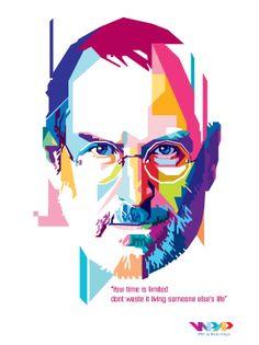 Steve Jobs Pop Art Portraits, Creative Portraits, Portrait Art, Steve Jobs, Polygon Art, Arte Pop, Portrait Illustration, Illustrations Posters, Vector Art