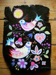 Slate Painting by nicedashofpaprika, via Flickr