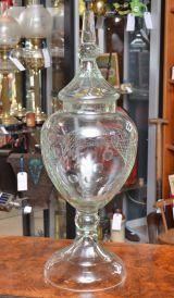 Chemist Shop Cut Glass Display Jar - Click for details