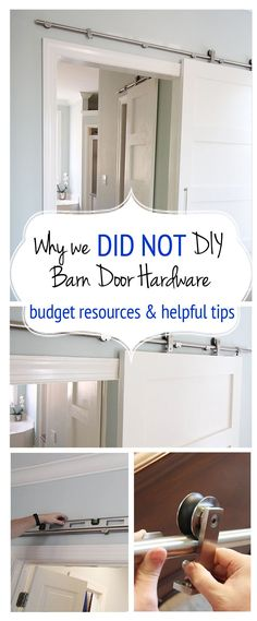 Why we did NOT DIY our Barn door hardware?  One reason...it was so inexpensive to use this one! Read the other helpful tips and resources.