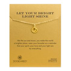 let your bright light shine sun and moon bracelet #dogeared