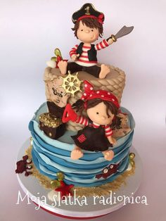 Cute pirates cake