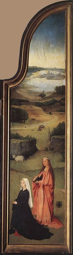 St Agnes with the Donor (right wing) - Hieronymus Bosch, 1510