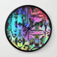 Rainbow Geometrics Wall Clock