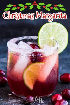 BEST CHRISTMAS MARGARITA!🎉 Festive Christmas Margarita Recipe is easy to make, tastes delicious, and the perfect holiday cocktail. Tequila cocktails.