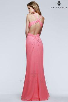 SELENA #GOMEZ INSPIRED ASYMMETRICAL RUCHED CHIFFON http://www.faviana.com/catalog/dress-6904?category=prom-2015 #promdress #prom2015 #Faviana #celebritydress