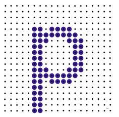 Kralenplank - letter p