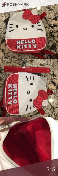 Hello Kitty back pack Small hello kitty backpack in good condition. Very gently used. Hello Kitty Bags Backpacks