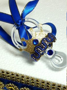 12 NEW Royal Prince Baby Shower Necklace Favors/ Boys Royal Blue & Gold Baby Shower Favors / Royal Prince Baby Shower Theme and Decorations