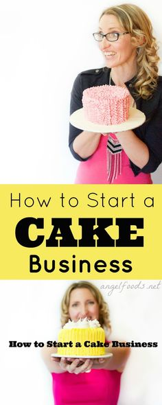 How to Start a Cake Business   What to Do & Where to Start Your Cake Business  Wondering what the first step is to getting a cake business going?  Whether it is cookies, sweets, cake pops ... Is it easy or hard, or even do-able?   http://angelfoods.net/how_to_start_cake_business/