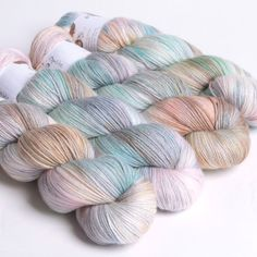 Opalite, Sock Yarn | Hedgehog Fibres  Perfect for the Dotted Rays pattern, love this!