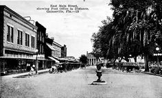 Florida Memory - East Main Street with post office in distance - Gainesville, Florida