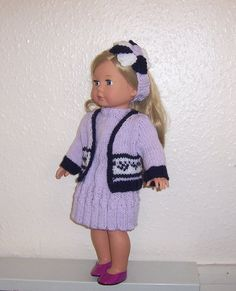 American Girl PDF knitting pattern for 18 doll von VintageKnitnaks