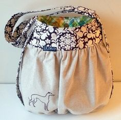 Sew cute! could be a great knitting bag...