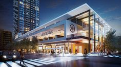 Calgary's urban grocery store saga! Calgary's urban grocery store saga! Retail Architecture, Commercial Architecture, Modern Architecture, Shopping Mall Architecture, Commercial Complex, Commercial Design, Mall Design, Retail Design, Building Facade