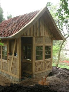 Fachwerk Cottage  | Timber Trails: Turnkey tiny house, cabin kits, and custom cottage designs built of super-efficient, affordable, and easy-to-finish structural insulated panels (SIPs). Go to >> TimberTrails.TV