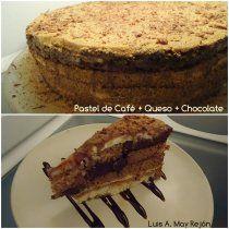 Receta de Pastel de Café, Queso y Chocolate