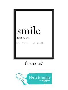 Smile definition, college dorm room decor, dorm wall art, beauty, romantic, dictionary art print, office decor, minimalist poster, funny definition print, definition poster, quotes from Serif Design Studios https://www.amazon.com/dp/B01LWJESBU/ref=hnd_sw_r_pi_dp_RSm8ybEC0CS3T #handmadeatamazon