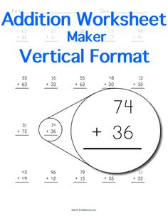 math worksheet : addition table  customizable and printable  math stem resources  : Addition Worksheet Maker
