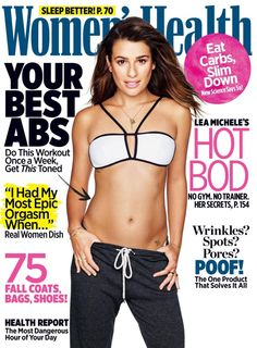 Lea Michele revealed her wish to see the Fox musical make a comeback during an interview with the November issue of Women's Health Lea Michele, Marie Claire, Interview, Adele Weight, Stress, Womens Health Magazine, Abs Women, Best Abs, Toned Abs