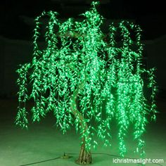 Artificial LED lighted willow tree