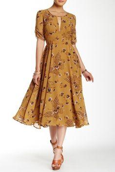 Image of Free People Bonnie Floral Print Dress