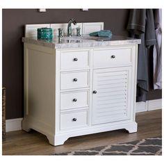 "Best Deal - James Martin Savannah 36"" Single Bathroom Vanity Cabinet, Cottage White 238-104-V36-CWH"