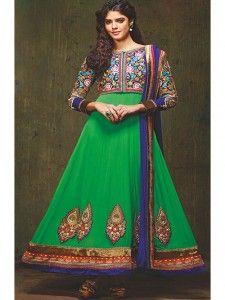 SV-KA0038 at JUST @ $ 73 Buy at http://www.shopvhop.com/product/peacock-greenish-manjula-designer-collection-10/