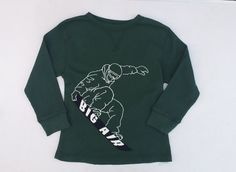 Gymboree Snow Chillin Boys Green Long Sleeve Thermal Shirt Sz 5 NWT #Gymboree #Everyday