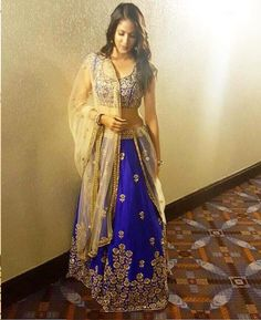 Lavanya Tripathi looked classic in a traditional avatar while she attended ATA conference in Chicago. The actress was all decked up in a stunning Mrunalini Rao's royal blue lehenga. The heavily embellished outfit which is encrusted with stunning gold detailing. She chose to keep her accessory game simple and let the outfit do the talking. …