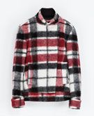 DOUBLE BREASTED CHECKED WOOLLEN THREE QUARTER LENGTH COAT - Coats - WOMAN   ZARA United States
