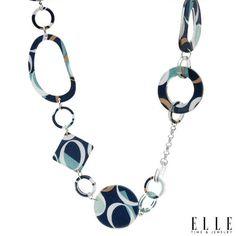 ELLE Blue Multi Necklace ~ www.DangleDangle.com