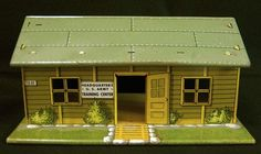 Marx tin doll house. Headquarters US Army Trading Center. Cowan collections. Cowan photo.