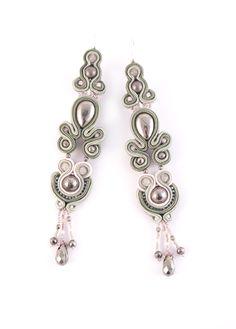 #new #post #on #ludozerna #earrings #soutache #bohemian #boho #khaki #olivine #lightpink #highfashion #fashion #made #with #love #handmade