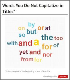 rules for capitalizing essay titles