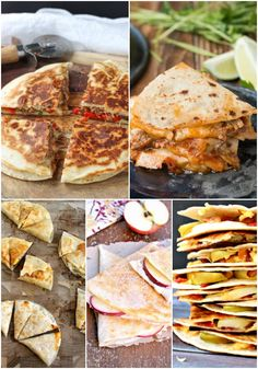 Quesadilla Recipes - Is there any better than cheesy goodness between two tortillas? These 25 Quesadilla Recipes take a Quesadilla Recipes - Is there any better than cheesy goodness between two tortillas? These 25 Quesadilla Recipes take a - Easy Chicken Recipes, Turkey Recipes, Mexican Food Recipes, Vegan Recipes, Cooking Recipes, Mexican Cooking, Vegan Food, Yummy Quesadillas, Quesadilla Recipes
