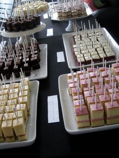 original_title] – Catania Hospitality Group Cake tasting sticks for people to sample. Or great for parties! Cake tasting sticks for people to sample. Or great for parties! Dessert Bars, Dessert Table, Dessert Recipes, Mini Desserts, Wedding Desserts, Mini Dessert Cups, Mini Dessert Shooters, Buffet Wedding, Party Buffet