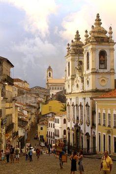 Pelourinho colonial district in Salvador, Bahia, Brazil